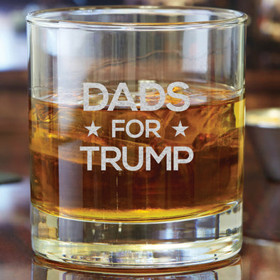 Whiskey Glass - Dads for Trump
