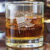 Whiskey Glass - We the People Flag