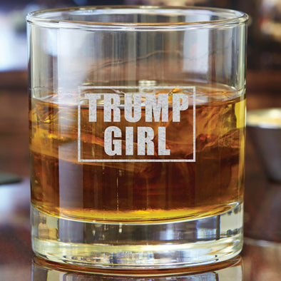 Whiskey Glass - Trump Girl