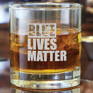 Whiskey Glass - Blue Lives Matter