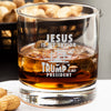 Whiskey Glass - Jesus Is My Savior Trump Is My President