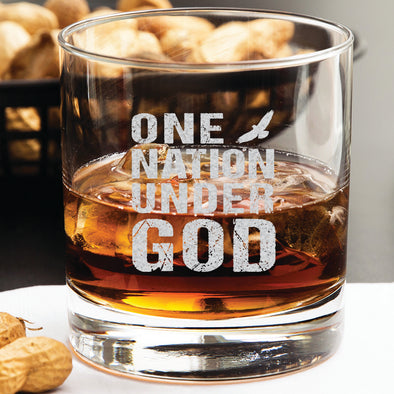 Whiskey Glass - One Nation Under God