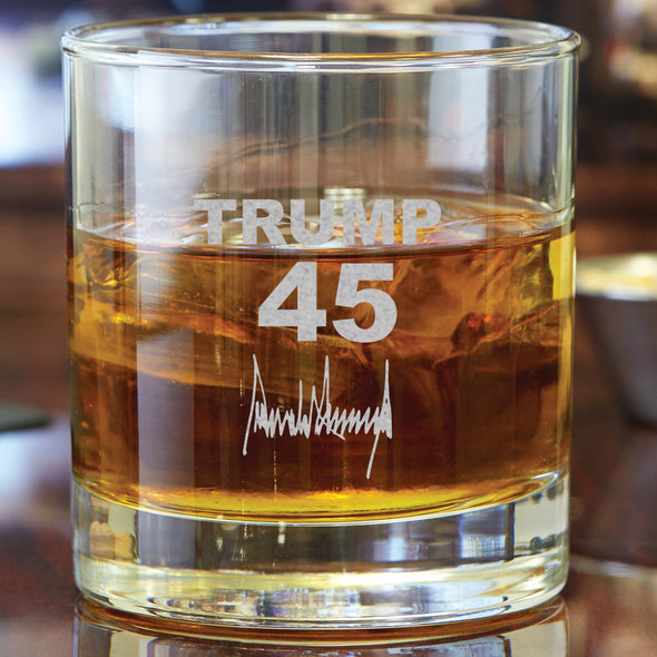 Whiskey Glass - Trump 45