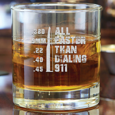 Whiskey Glass - All Faster than Dialing 911