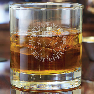 Whiskey Glass - The Right to Bear Arms Will Be Defended
