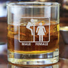 Whiskey Glass - Peeking Gender Sign