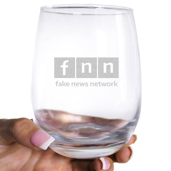 Wine Glass - FNN - Fake News Network lowercase