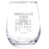 Wine Glass - Impeach This