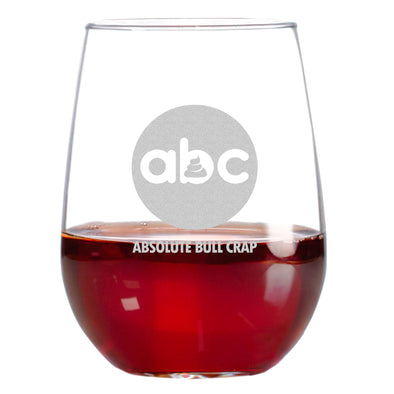 Wine Glass - ABC- Absolute Bull Crap