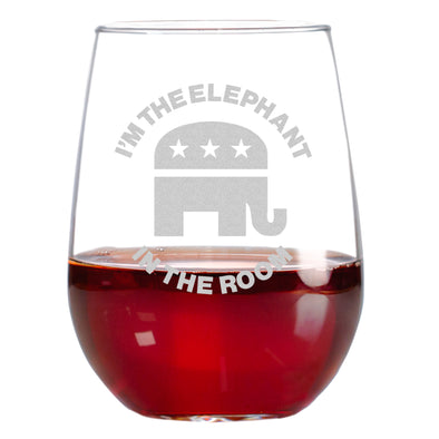 Wine Glass - Elephant in the Room – Round