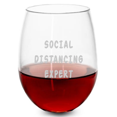 Wine Glass - Social Distancing Expert