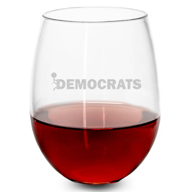 Wine Glass - Fuck Democrats