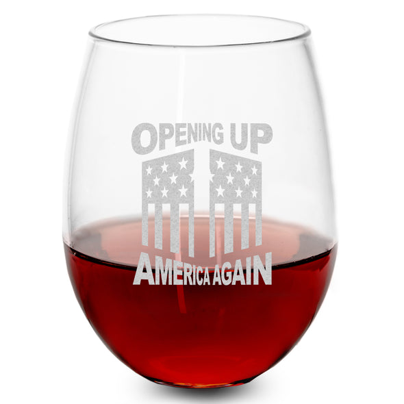 Wine Glass - Opening Up America Again