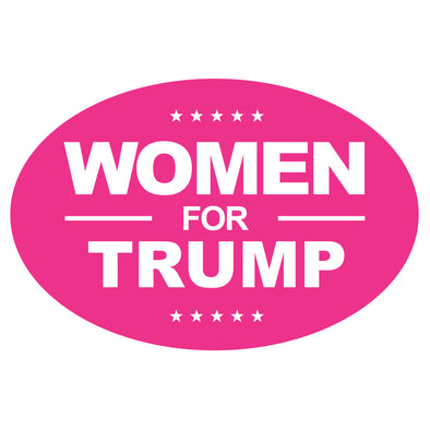 Women For Trump Car 6x4 Oval Magnet