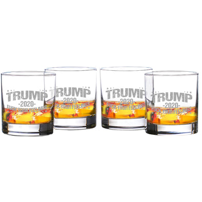 Trump 2020 - Fuck Your Feelings Whiskey Glass Set of 4