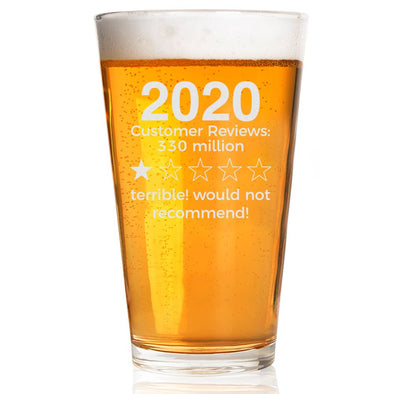 2020 Review - Pint Glass