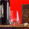 Wine Glass -Flatten the Curve Drink at Home
