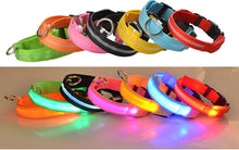 Load image into Gallery viewer, Nylon LED Pet dog Collar