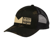 Load image into Gallery viewer, Trucker Cap in Black Camo, Blue or Pink