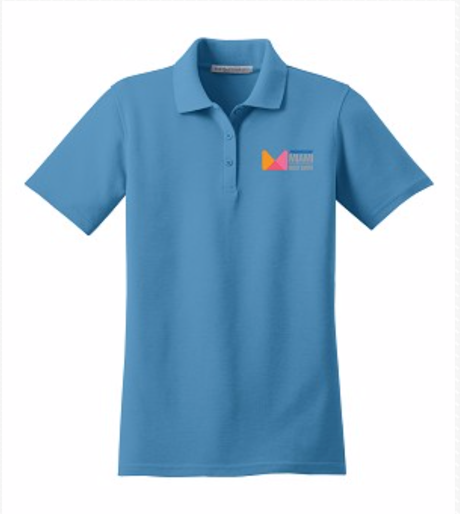 Ladies Polo in Light Blue or Navy