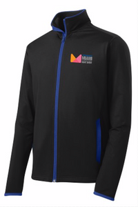 Full-zip Jacket in Black with Blue Trim