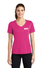 Load image into Gallery viewer, Ladies V-neck Tee in Pink - Price Includes Tax
