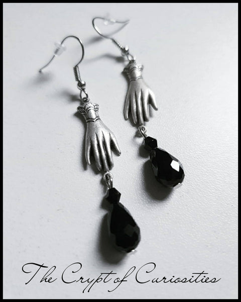 Elegant Gothic Victorian hand glass crystal earrings.