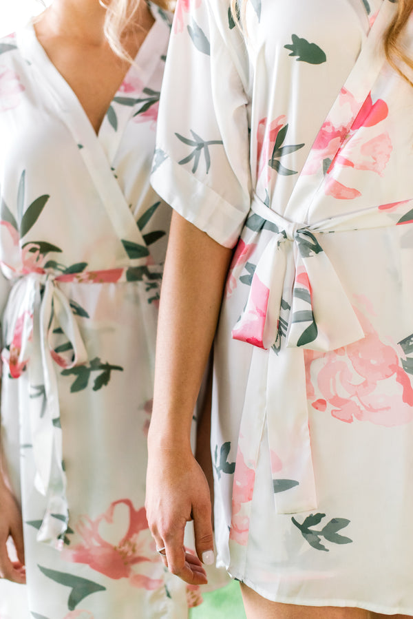 Wink and Wave Peony Robes by Catalfo