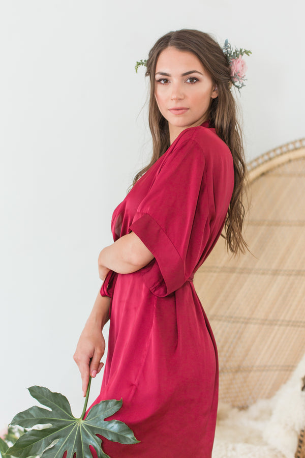 Luxe Robe, Burgundy (By Catalfo)