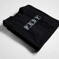 FEDY BOX LOGO TEE - BLACK