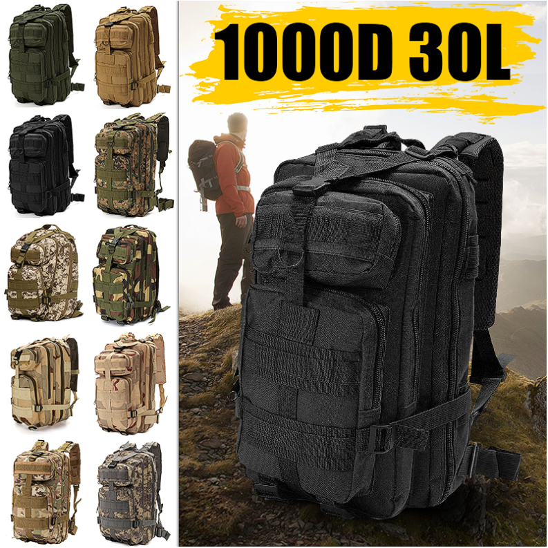 7 Mountains® Outdoor Military Survival Rucksacks Tactical Backpack Sports Camping Trekking Hiking Bugout Bag