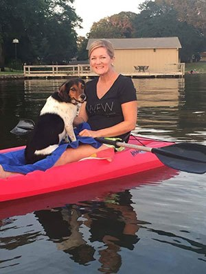 Dog Passenger On Kayak