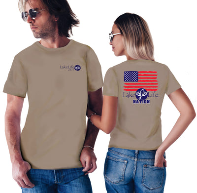 LakeLife 24/7® Flag T-Shirt - Short Sleeve
