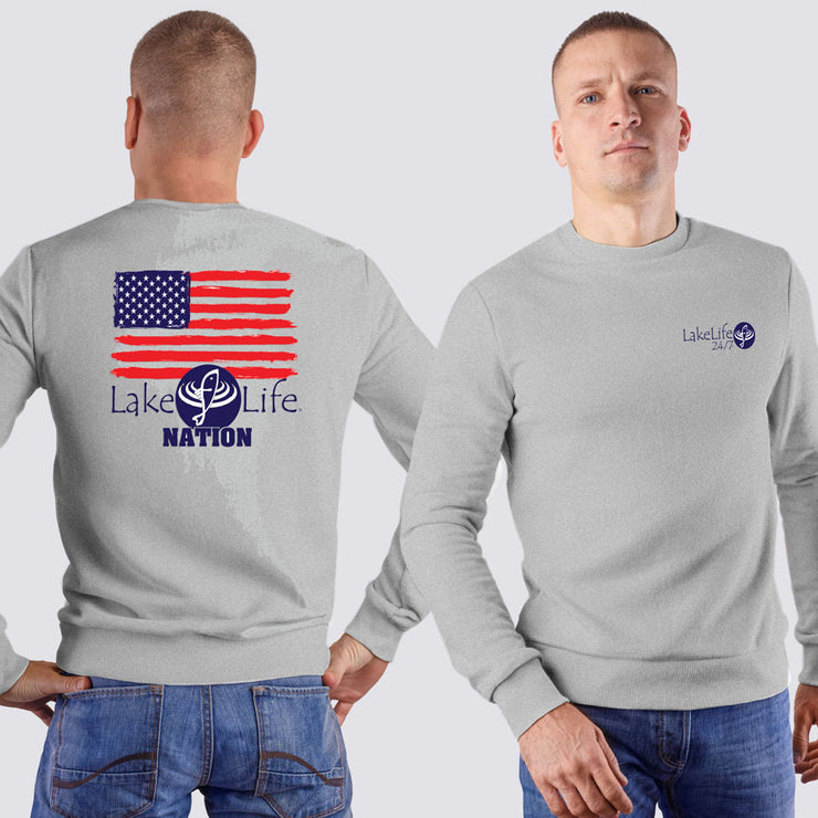LakeLife 24/7® Sweatshirt - Flag design