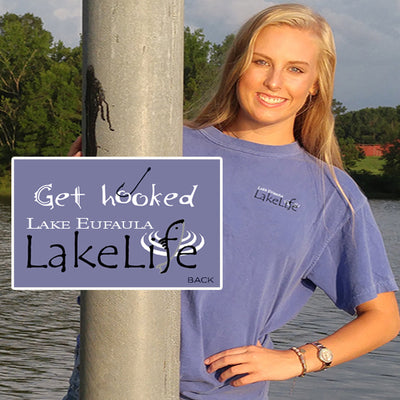 "Eufaula LakeLife™ ""Get Hooked"" T-Shirt - Short Sleeve"