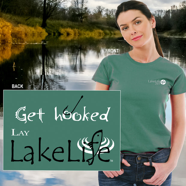 "Lay LakeLife™ ""Get Hooked"" T-Shirt - Short Sleeve"