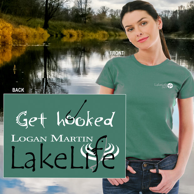 "Logan Martin LakeLife™ ""Get Hooked"" T-Shirt - Short Sleeve"