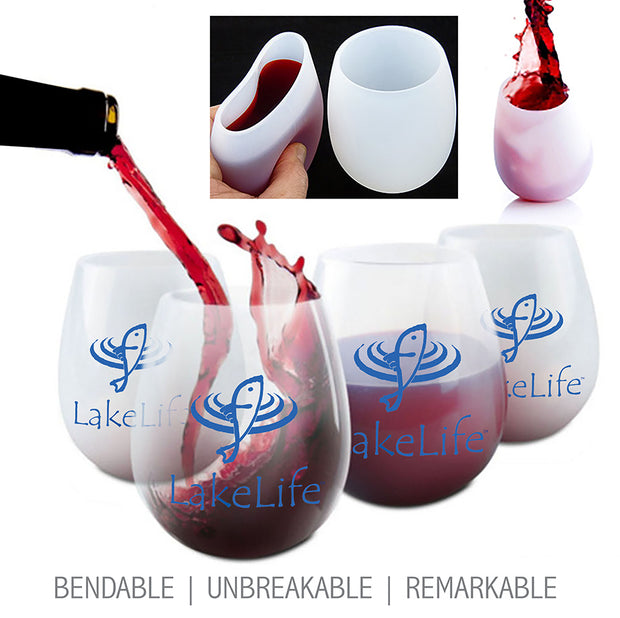 LakeLife 24/7® Silicone Wine Glass