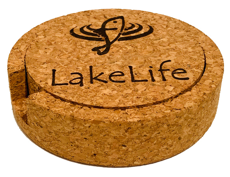 LakeLife 24/7® Coasters - Cork