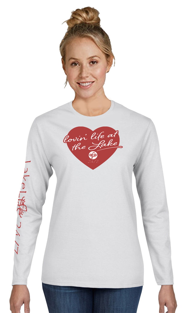 "LakeLife 24/7® ""Lovin' Life at the Lake"" Long Sleeve T-shirt"
