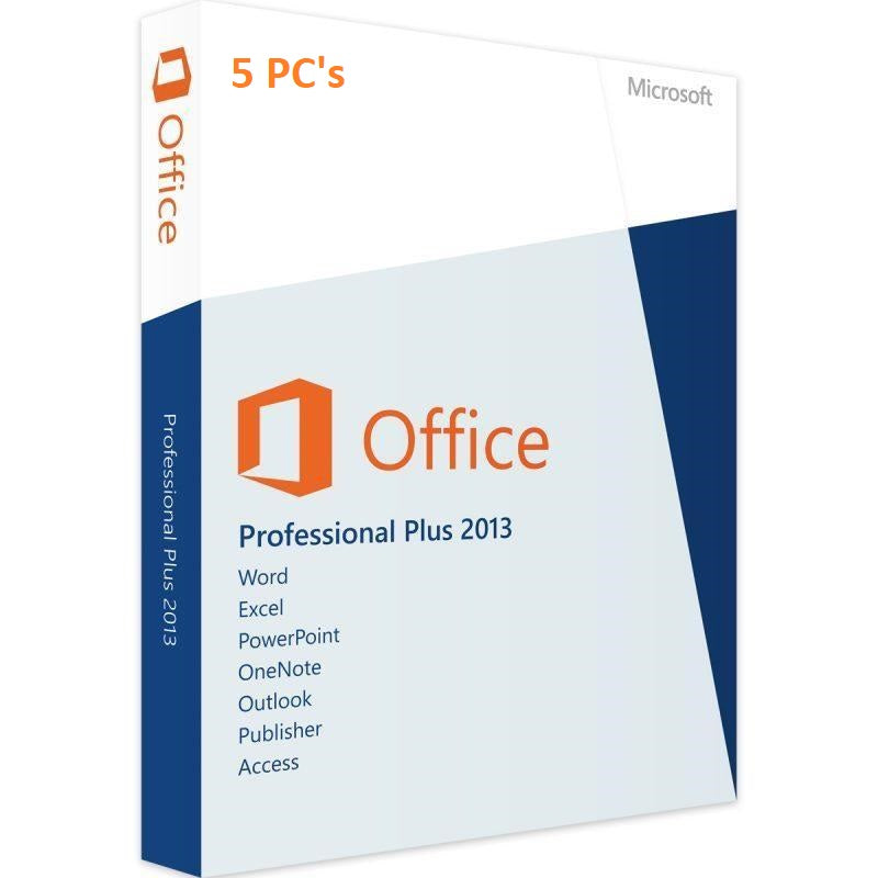 Microsoft Office 2013 Professional Plus - 5 PC - Lifetime License - yourofficehub