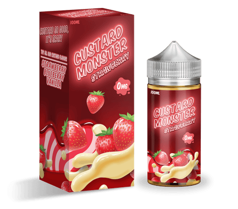 Custard Monster - Strawberry Custard | Premium Vape Juice | Australia