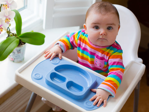 EasyMat Mini Portable Baby Suction Plate - Blue