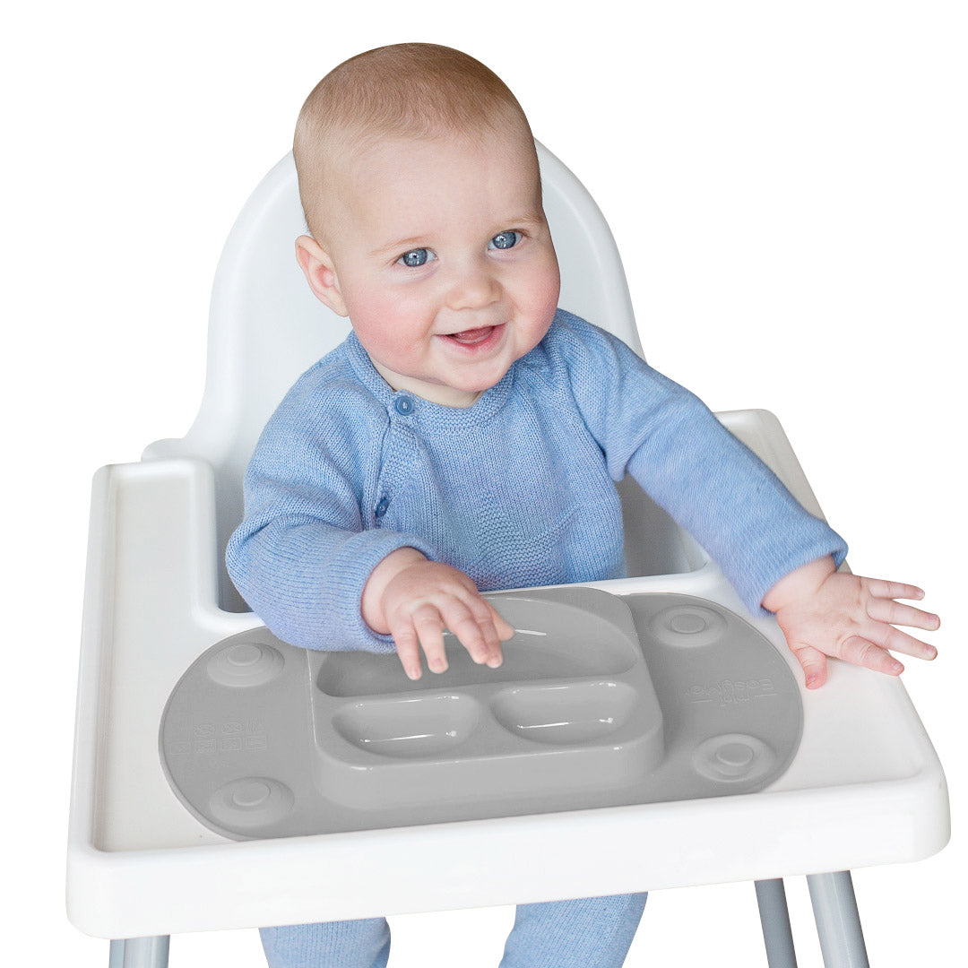 Mini Portable Baby Suction Plate - Grey