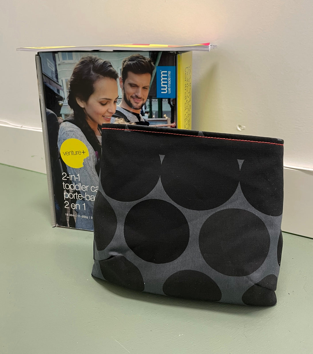 2-in-1 Toddler Carrier Black Gradient Spots
