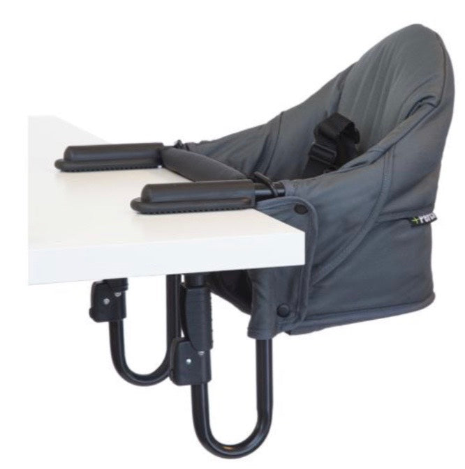 Perch Hanging High Chair + Seat Liner - Salt and Pepper