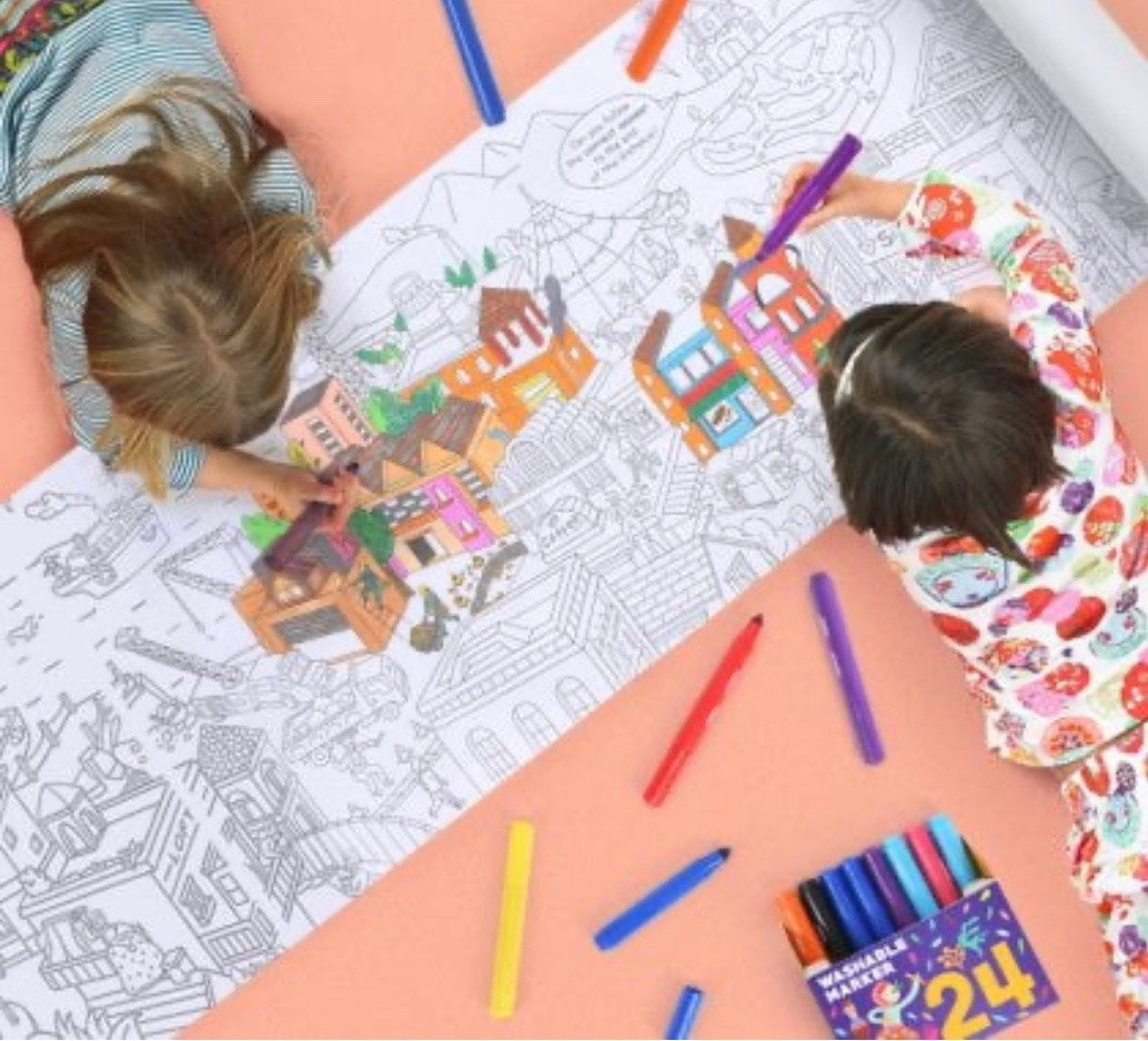 10 Meter Giant Colouring Roll – City