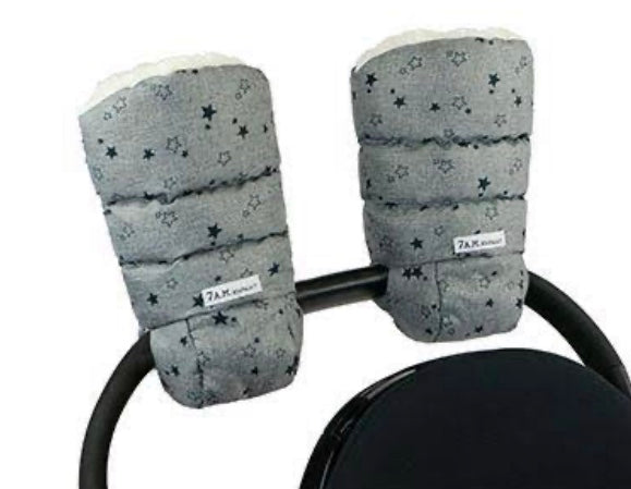 Warmmuffs 212- Heather Grey Stars