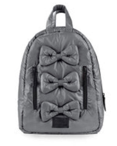 Mini Bows Backpack- Graphite