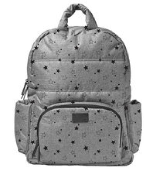 BK718 Diaper Bag- Grey Star
